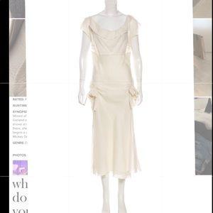 Designer dress cream color lite weight, charming